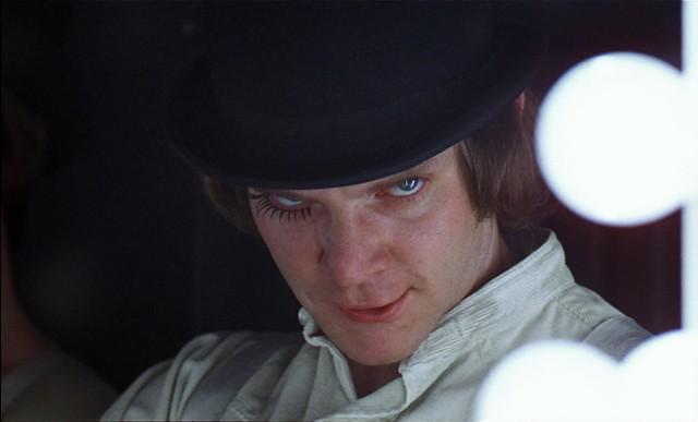 A capture from Kubrick's, A Clockwork Orange, cinematography by John Alcott