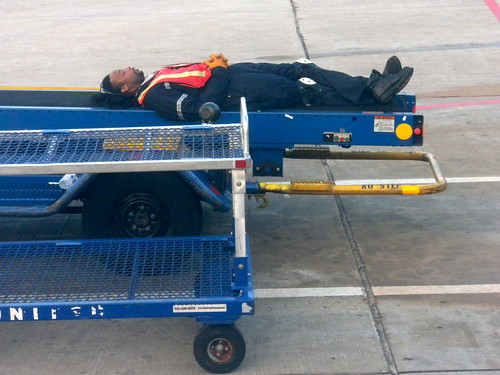 Sleeping Baggage Handler