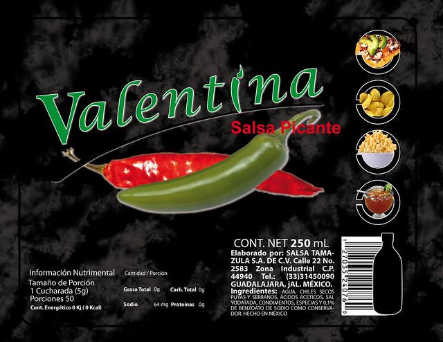 Etiqueta Salsa Valentina