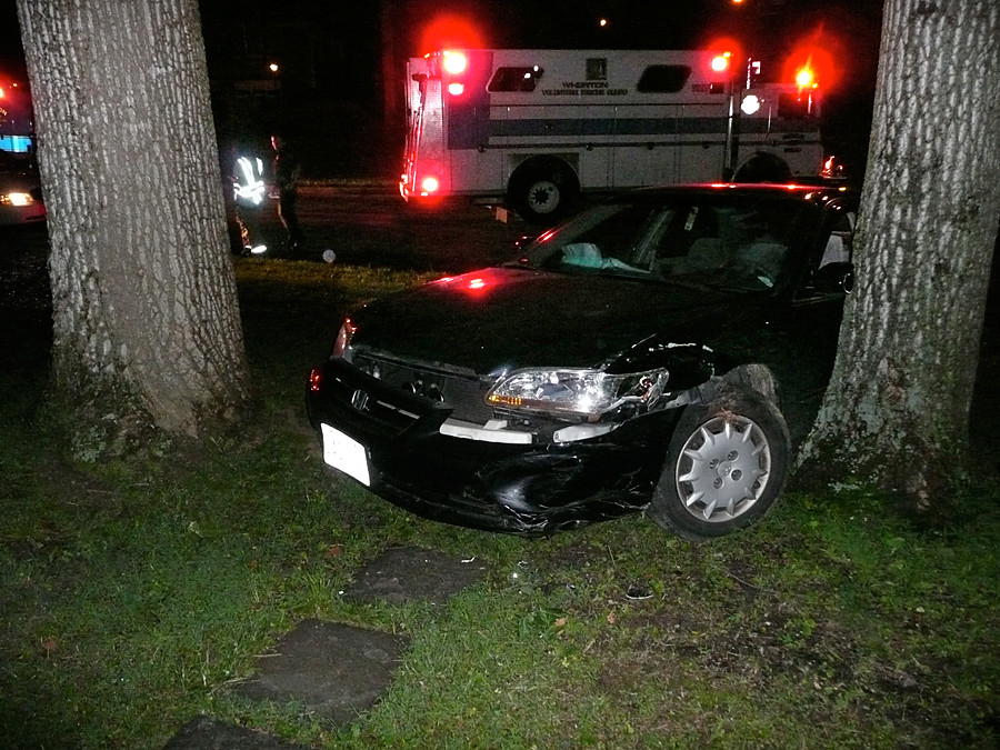 Stolen Car Crashes Into Brick Fence Scarborough