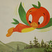 Orange Bird Flying
