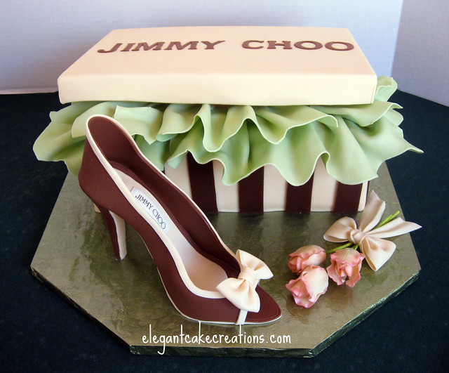 Designer Shoe Box Cake