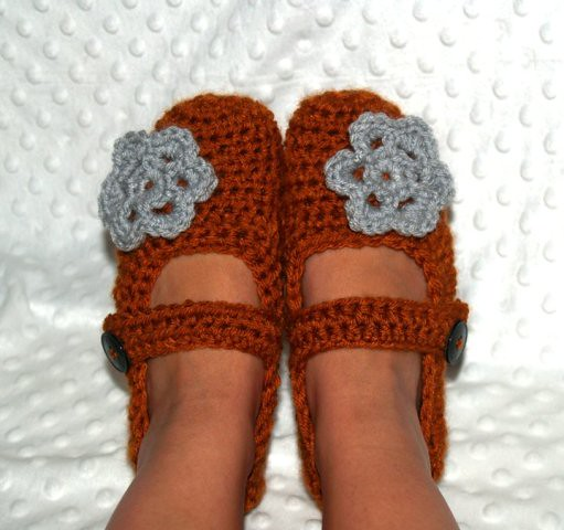 Crochet Mary Janes for Women
