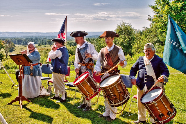 Fife & Drum Corps Play at Saratoga Battlefield