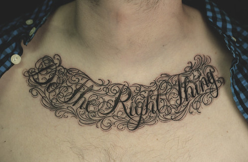 Script Chest Tattoo