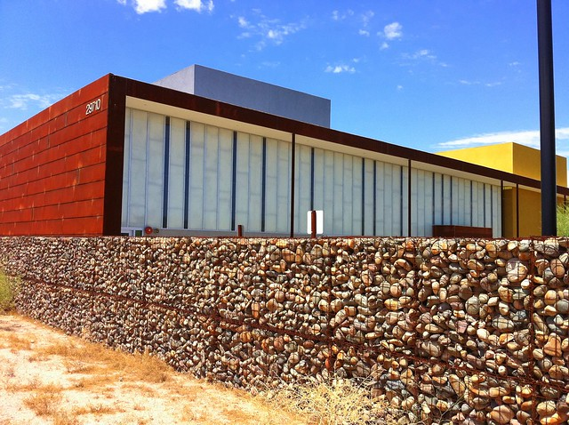 Gabion wall and north elevation flickr photo sharing for Gabions phoenix