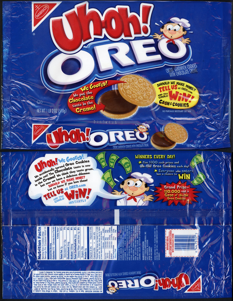 Nabisco Uh Oh Oreo Cookies Package 2002 2003 This Is Flickr