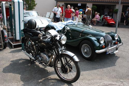 Fladungen Classics Germany 04/07/10 Vincent Motorcycle & Morgan 4+4