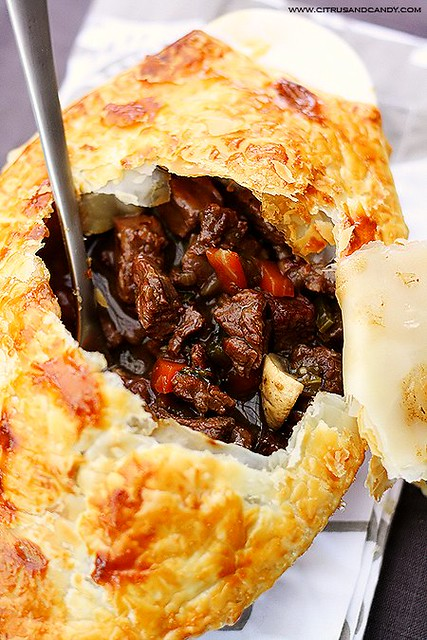 Beef and Red Wine Pot Pie with Braised Cabbage | www.citrusa ...