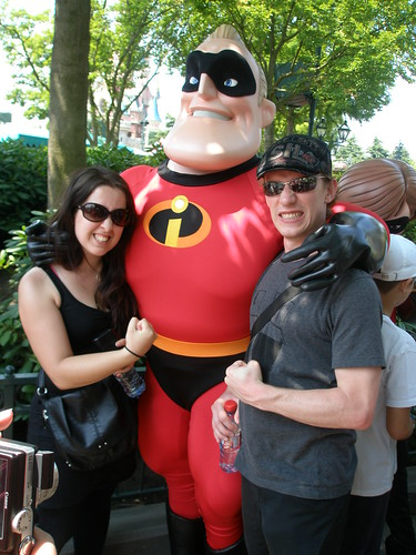 Rawwrr At Disneyland Paris with Mr Incredible
