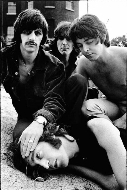 The Beatles, London, by Don McCullin 1968