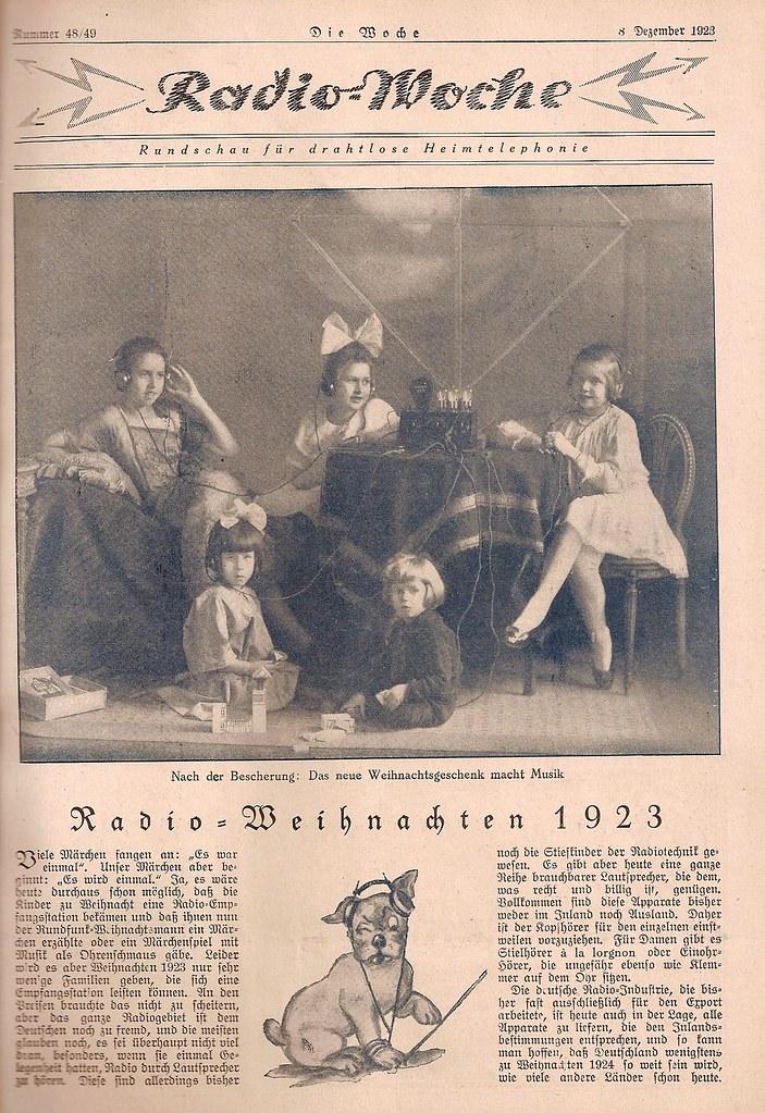 1923 Die Woche, Nr. 48 49 Radio Woche