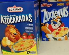 Soriana brand Azuracadas and Kellogg's Zucaritas