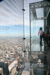 """Chicago (ILL) Willis Tower ( Ex. SEARS Tower ) 1974, west side,  """" Skydeck """""""