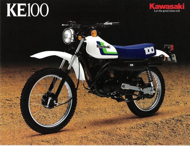 1987 ke100 brochure front