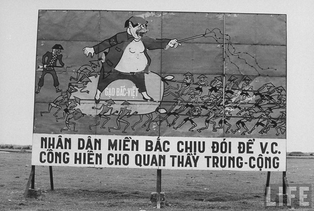 Anti-Communist billboard near 17th Parallel in South Vietnam.