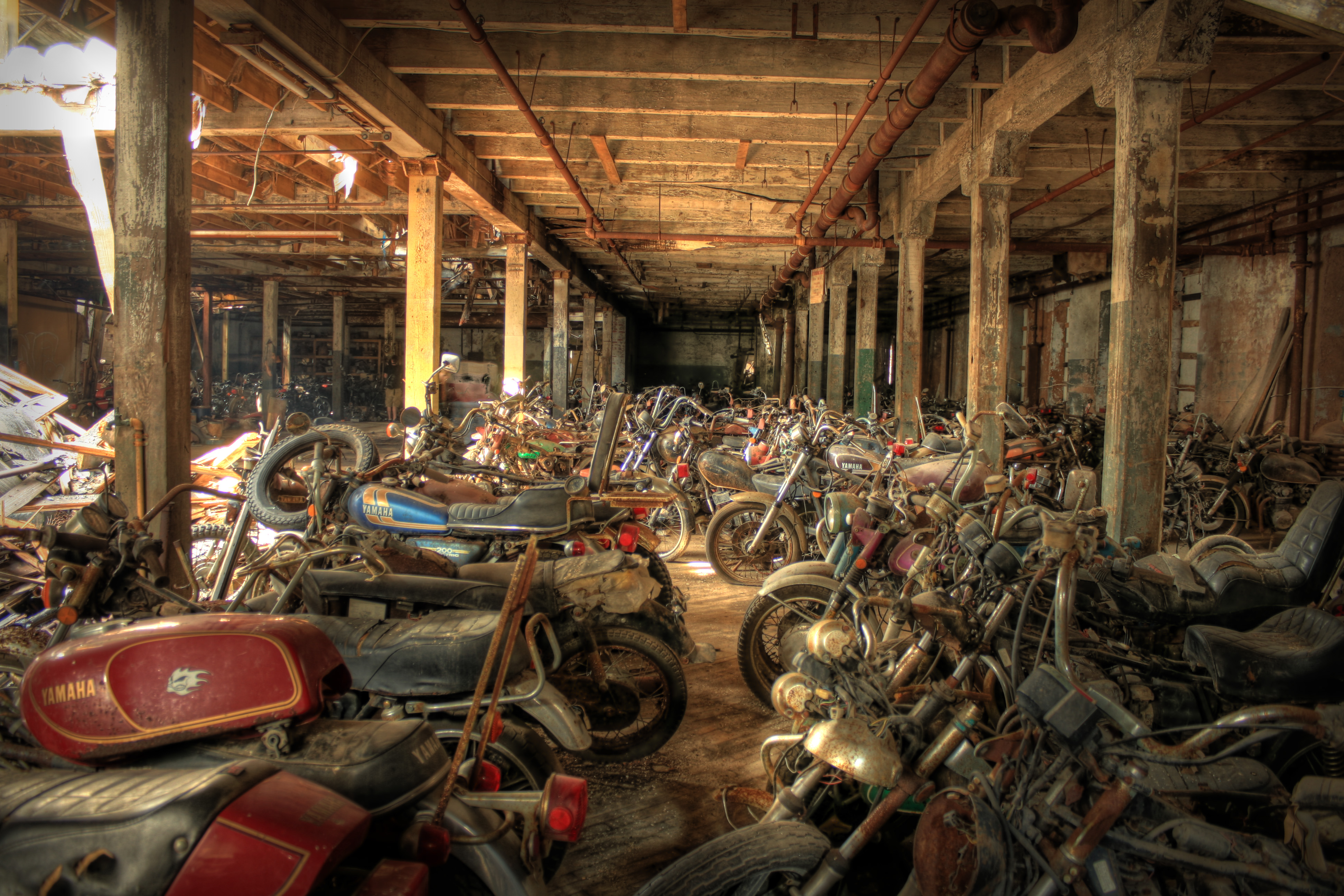Motorcycle Graveyard Hdr Flickr Photo Sharing