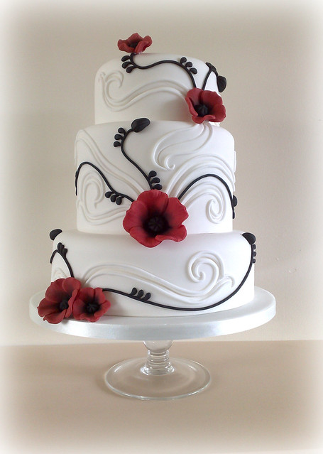 Poppy wedding cake flickr photo sharing
