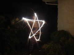 Writing with sparklers ☆
