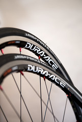 Shimano Dura-Ace 7850 CL24s with Michelin Pro 3 Slicks