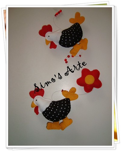 Mobile galinha by Artes by Simo's®