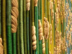 Silky Rainforest. Sheila Hicks. Renwick Museum of Craft. Photo by Wayne Stratz.