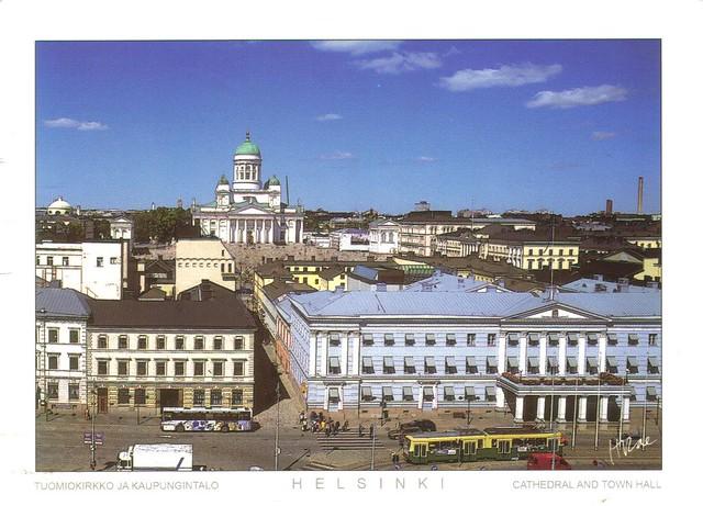 LARGE Helsinki Finland postcard