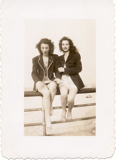 Bathing beauties in jackets