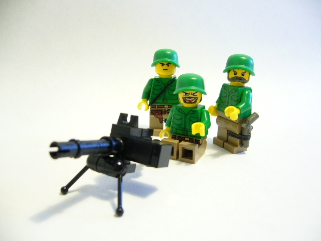 Lego Browning .30 Caliber Machine Gun Crew