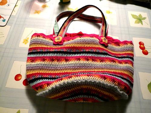 Granny Stripe bag, lined 5