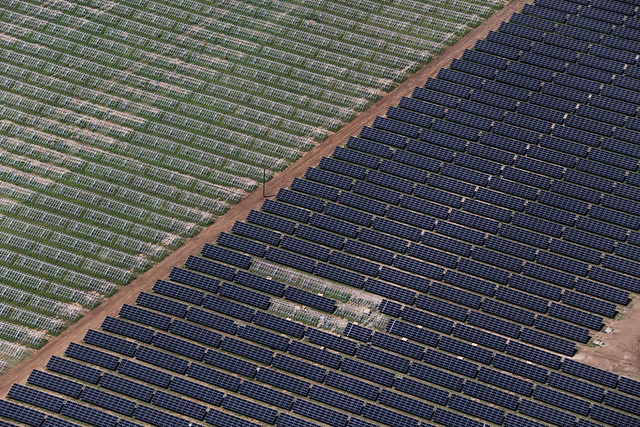 Blue Wing Solar Aerial View Flickr Photo Sharing