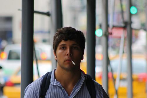 A young smoker