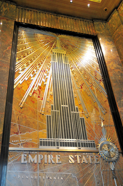deco inside empire state building new york flickr