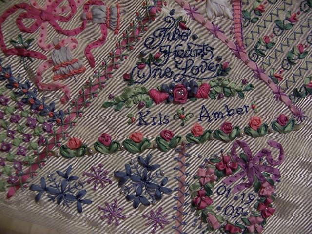 Ribbon embroidery wedding sampler flickr photo