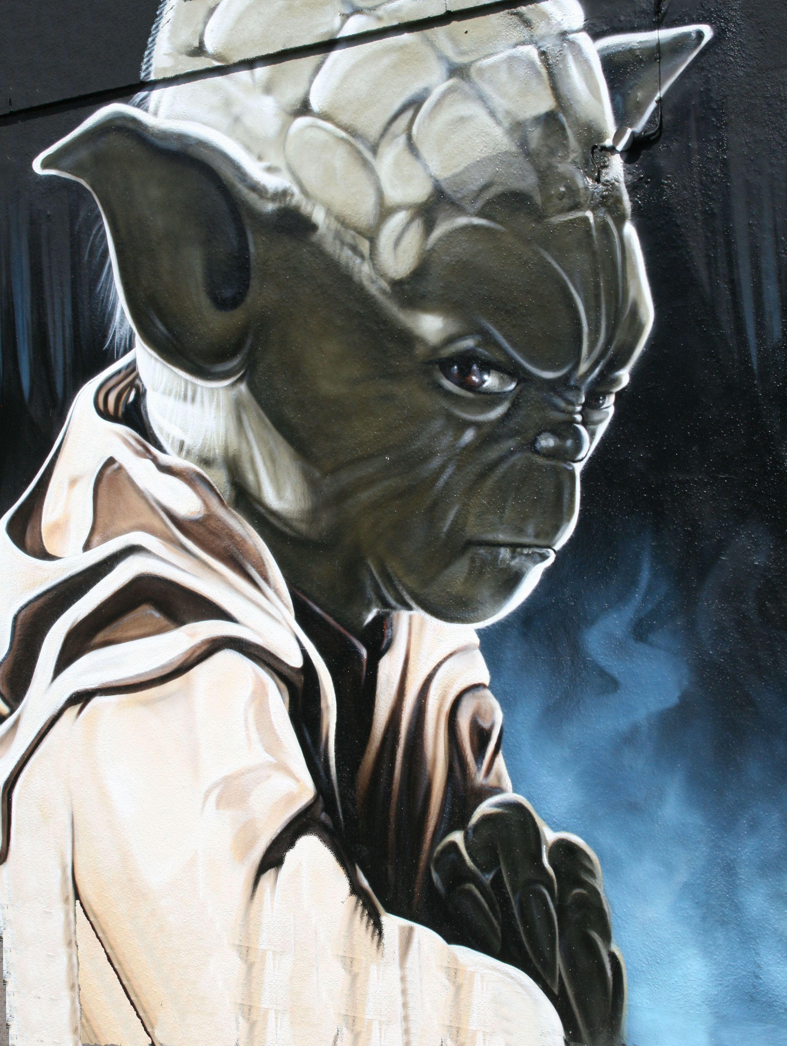 Yoda on a Wall