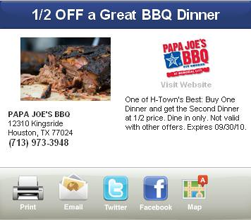 Houston BBQ Dinner Offers