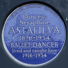 Photo of Seraphine Astafieva blue plaque