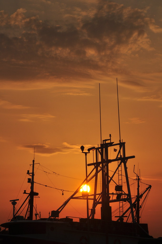 Sunset over Korcula Island