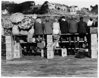 Spectators at a tennis match in Miramar, 13 February 1932