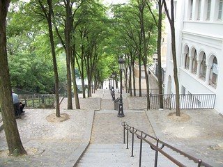 Stairway to Heaven at Montmantre during our trip to Paris