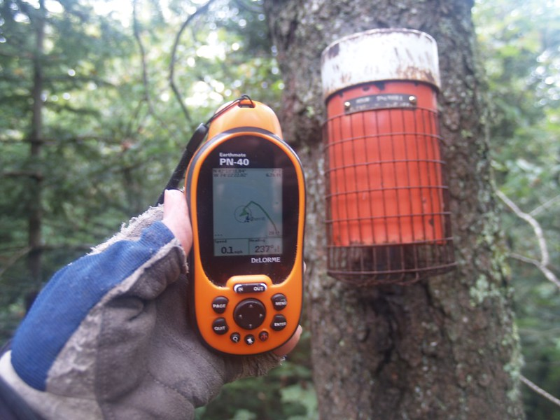 The GPS and Sherrill's summit canister