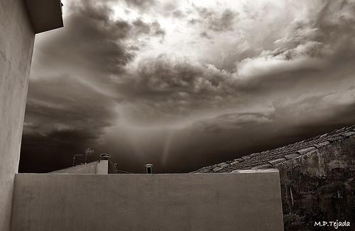 La tormenta.