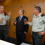 Lieutenant General Gantz, Minister of Defense Ehud Barak and Gabi Ashkenazi