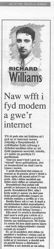 Naw wfft i fyd modern a gwe'r internet - llun: dafyddt ar Flickr