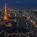 Tokyo Tower blue hour by Jorge Císcar