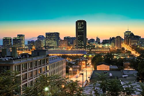 city sunset urban skyline night landscape lights nikon cityscape richmond d3000