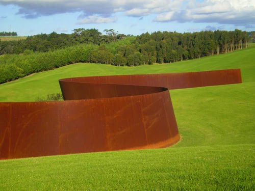 Richard Serra's 257m long Te Tuhirangi Contour. Commissioned by Alan Gibbs for his property (known as The Farm) on the Kaipara. by www.admsp.org