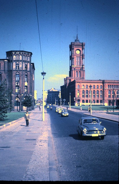 rathausstrasse and rotes rathaus red town hall east berlin 11 september 1959 flickr. Black Bedroom Furniture Sets. Home Design Ideas