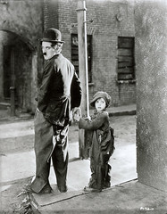 Charlie Chaplin and Jackie Coogan, photographer unknown, 1921