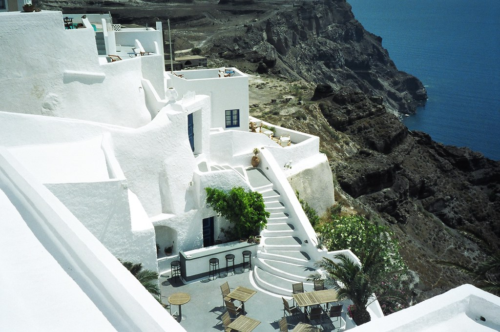 Unforgettable White and Blue of Greek Island, Fira, Santorini, Greece
